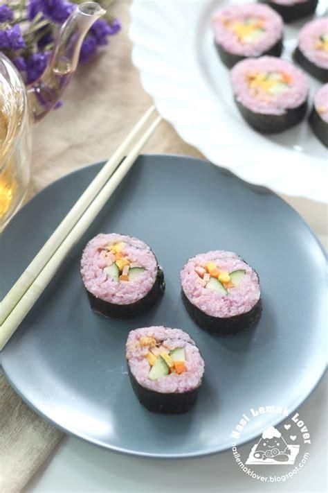nasi lemak lover purple sweet potato sushi
