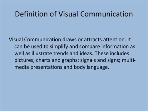 design and visual communication meaning visual and electronic slide handout