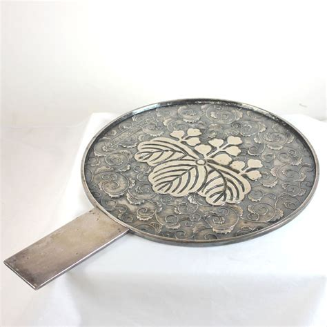 black mirror japan antique silver plate over copper japanese mirror juliet