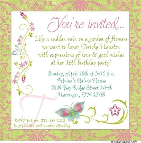 birthday garden invitation wording birthday invitation wording birthday quotes