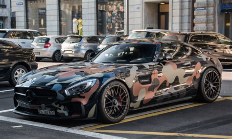 camo wrapped cars camo wrapped mercedes amg gt spotted in zurich