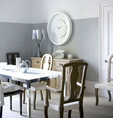 Two Toned Grey Walls Dining Room Live Pinterest Two Tone Grey Dining Room
