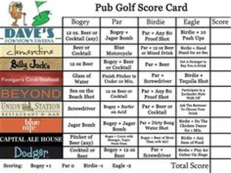 barcrawl card template 1000 ideas about pub golf on golf theme golf