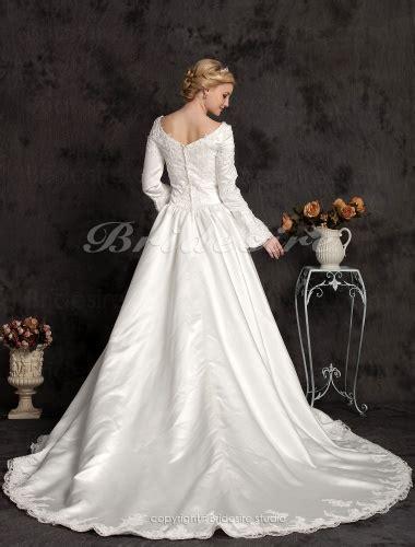bridesire duchesse linie long satin sleeve luxury