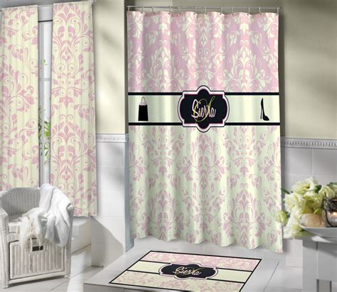 light pink and grey shower curtain light pink fashion victorian style shower curtain with