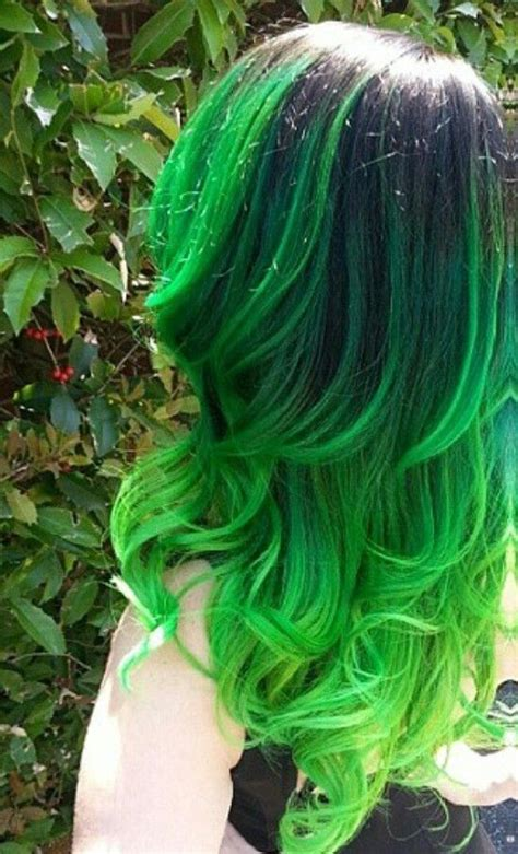 ugly green usually i dont like green hair because it fades into that