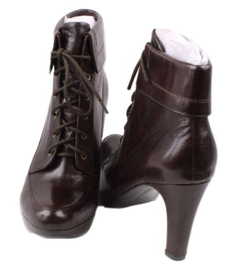 narrow width boots naturalizer iman giglio womens brown leather heel dress
