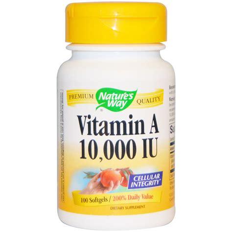 Vitamin Nature S Way Nature S Way Vitamin A 10 000 Iu 100 Softgels Iherb