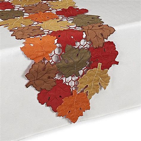 54 inch table runner buy scattered leaves harvest 54 inch table runner from bed