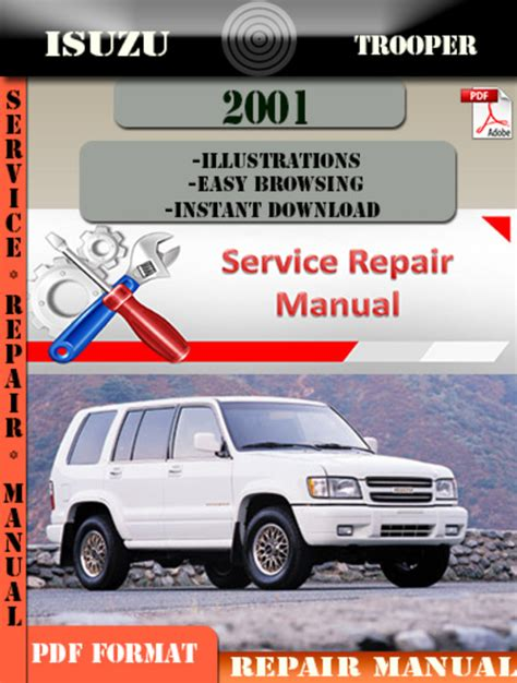 online auto repair manual 2001 isuzu trooper security system isuzu trooper 2001 digital factory repair manual download manuals