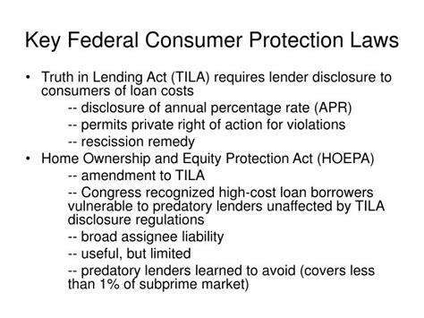 section 27 of consumer protection act ppt state anti predatory lending laws and federal