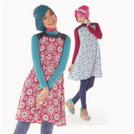 Tunik Batik Flowery tren baju lebaran terbaru tahun 2016 ide model busana