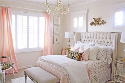 pink bedroom pink and gold s bedroom makeover randi garrett design