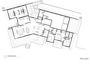 Floor Plan Of Bank River Bank House By Balance Associates Architects Homedsgn