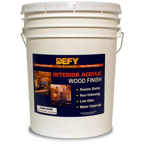 Clear Wood Stain Interior by Defy Interior Clear Wood Finish Satin 5gal