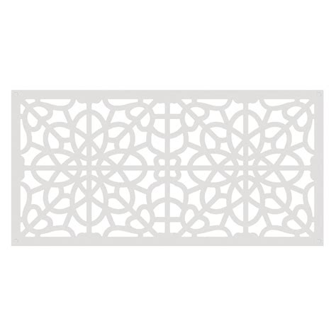 decorative panels tuffbilt 4 ft x 2 ft white fretwork polymer decorative
