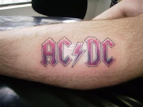 ac dc logo tattoo ac dc heavy metal tattoo
