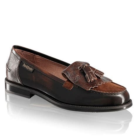 and bromley loafers chester tassel loafer in brown leather bromley