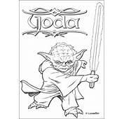 STAR WARS Zum Ausmalen  Meister Yoda