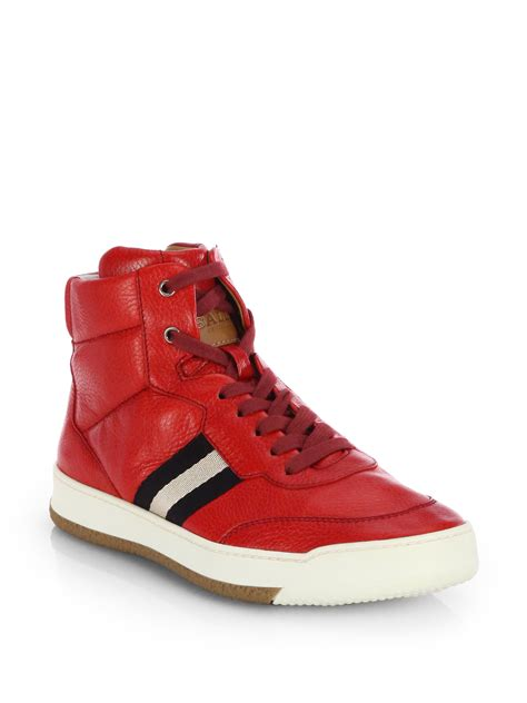 high top bally sneakers bally leather hightop sneakers in for bally