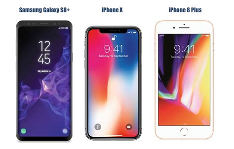samsung galaxy s9 plus vs iphone x vs iphone 8 plus price in india specifications features