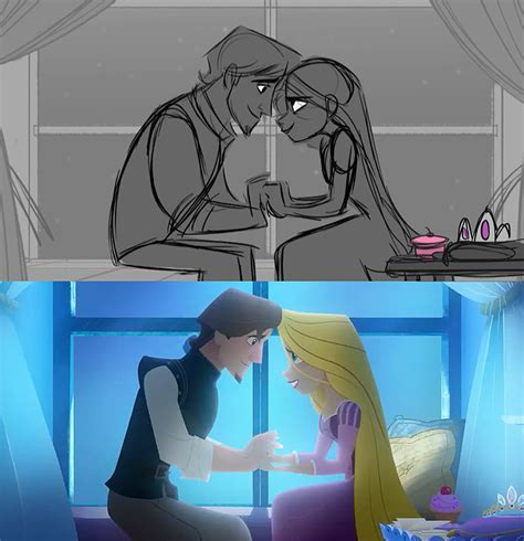 tangled  series storyboard  final result
