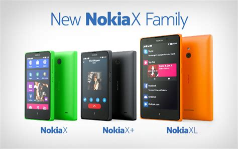 Hp Nokia X Family new nokia x family is revealed android based nokia phones