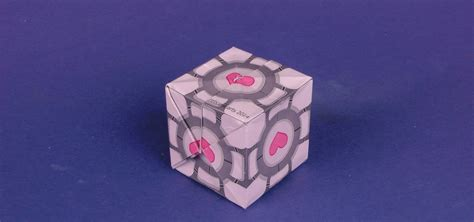Money Origami Cube - how to make a origami companion cube from portal 171 origami