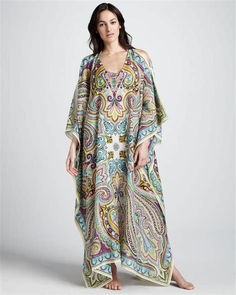Etro Kaftan etro paisley print caftan neiman fashion