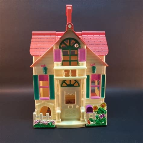 large plastic doll house vintage toys large vintage hard plastic folding doll house was sold for r132 00