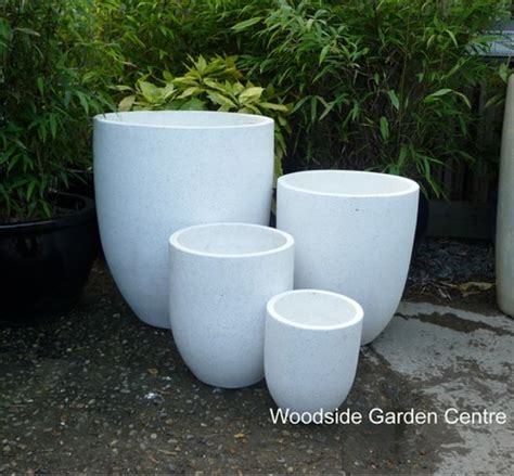 White Outdoor Plant Pots Large White Terrazzo U Pot Planters Woodside Garden