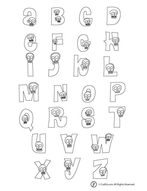 free printable halloween alphabet letters halloween letters alphabet woo jr kids activities