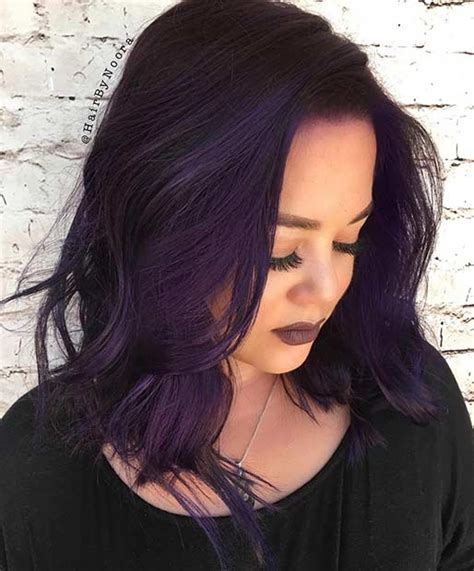black n purple hair 21 bold and trendy dark purple hair color ideas stayglam