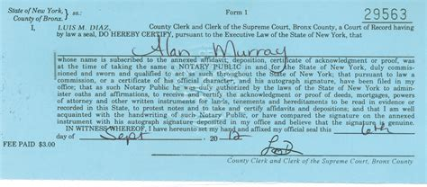 Bronx County Clerk Search Apostille Exles Legalization Exles