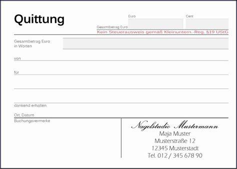 Word Vorlage Quittung Kostenlos 6 Quittung Vorlage Bewerbungsschreiben