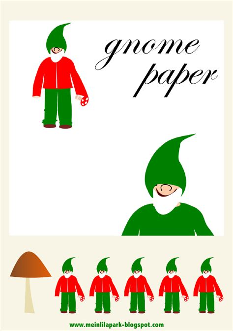 printable paper gnomes free digital gnome scrapbooking paper and gnome printables