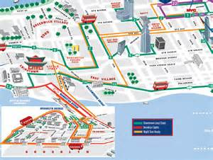 New York Gray Line Tour Map by Night Loop Bus Tour By Gray Line Citysightseeing New York