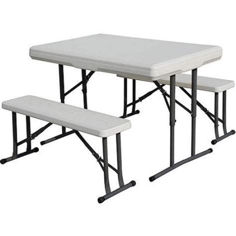 fold out bench seat stansport c table with folding bench seats walmart com