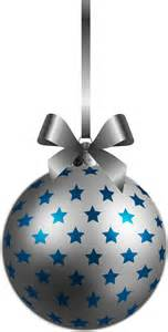 large transparent bluesilver christmas ball ornament png