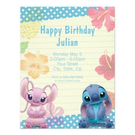 Lilo Stitch Birthday Invitation Zazzle Com Free Lilo And Stitch Invitation Template