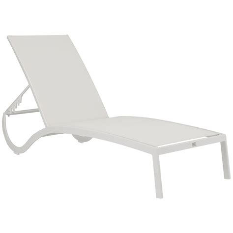 sling chaise lisbon white sling chaise