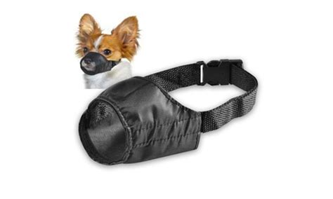 muzzle petsmart insten pet muzzle gear black fabric no bite bark size 7 quot groupon