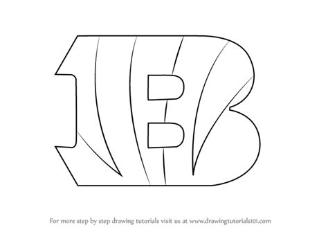 nfl symbols coloring pages learn how to draw cincinnati bengals logo nfl step by