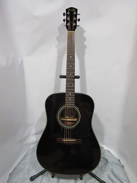 fender dg  acousticelectric guitar black reverb