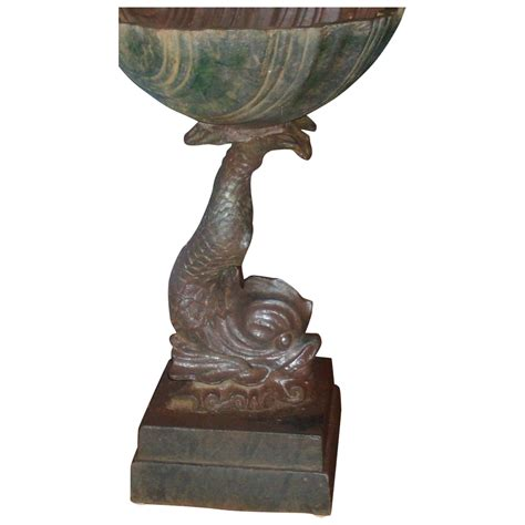 antique 19th century american cast iron bird bath font