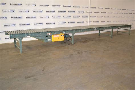 conveyor sections hytrol 42 quot w x 28 l motor driven gravity roller conveyor