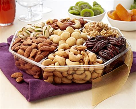 christmas holiday gourmet food baskets nuts gift basket mixed nuts 7 different nuts five star gift baskets nuts gift basket gourmet food gifts prime delivery mothers fathers day