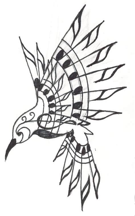 bird music notes tattoo designs hummingbird images designs
