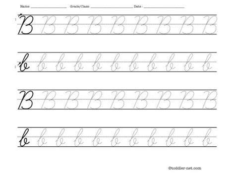 printable tracing letters cursive tracing worksheet cursive letter b