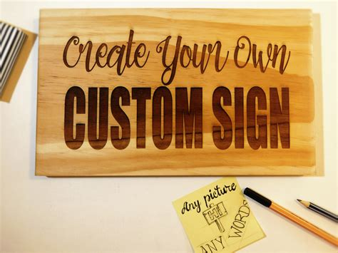 Handmade Wooden Signs Custom - custom made signs personalized sign custom made wooden sign